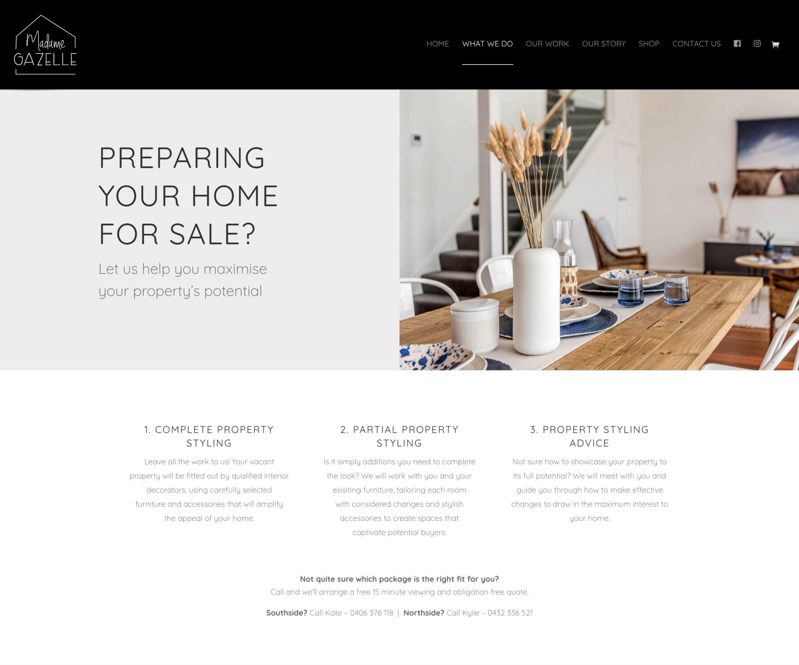 website design by 44 Creative Canberra